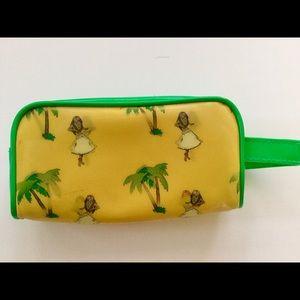 HULA girl Palm tree pouch cosmetic case bag HAWAII